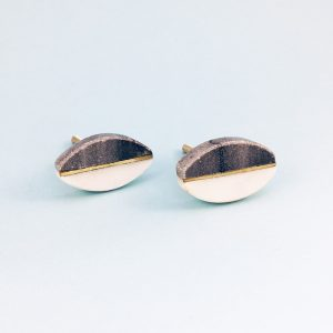 Oval Brass Centred Marble Knob