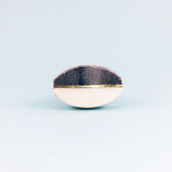 oval marble brass centred knob 6 600x600 - Oval Brass Centred Marble Knob