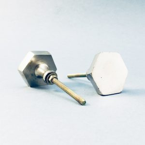Silver Hexagon Knob