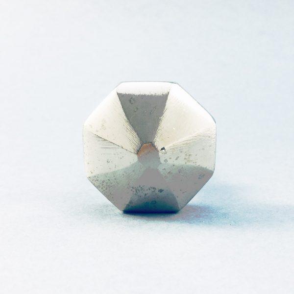 silver iron octagon pyramid knob 5 600x600 - Silver Octagon PrismKnob