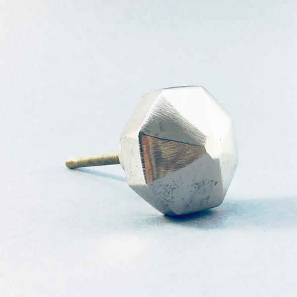 silver iron octagon pyramid knob 6 600x600 - Silver Octagon PrismKnob