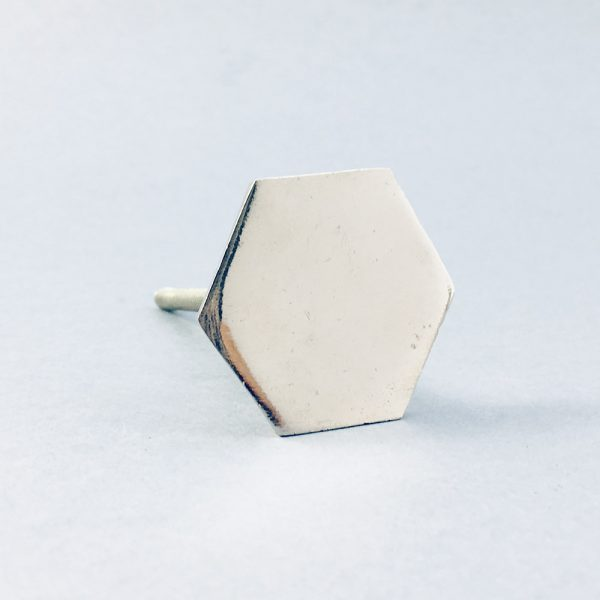 silver iron slimline hexagon knob 4 600x600 - Silver Slimline Hexagon Knob