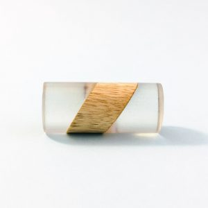 split wood and resin cylinder pull 2 300x300 - Split Wood and Resin Cylindrical Pull