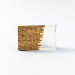 split wood and resin rectangle knob 3 300x300 - Split Jagged Wood and Resin Rectangle Pull