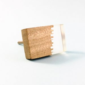 split wood and resin rectangle knob 4 300x300 - Split Jagged Wood and Resin Rectangle Pull