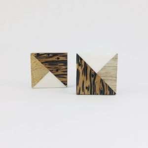 Tangram Wood and Resin Knob