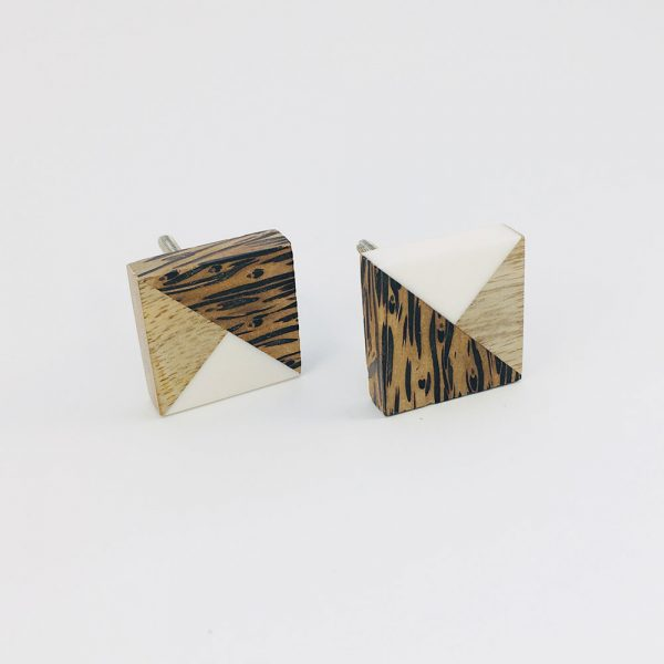 tangram wood and resin knob 2 600x600 - Tangram Wood and Resin Knob