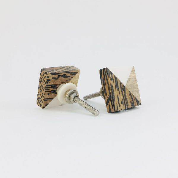 tangram wood and resin knob 5 600x600 - Tangram Wood and Resin Knob