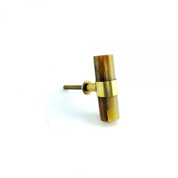 Brown Horn and Brass Pull
