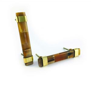 Brown Horn and Brass Handle