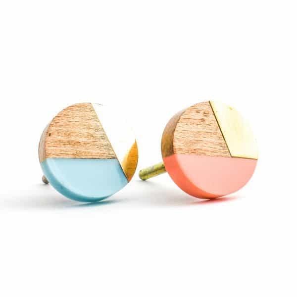 Round Turquoise Trio Knob