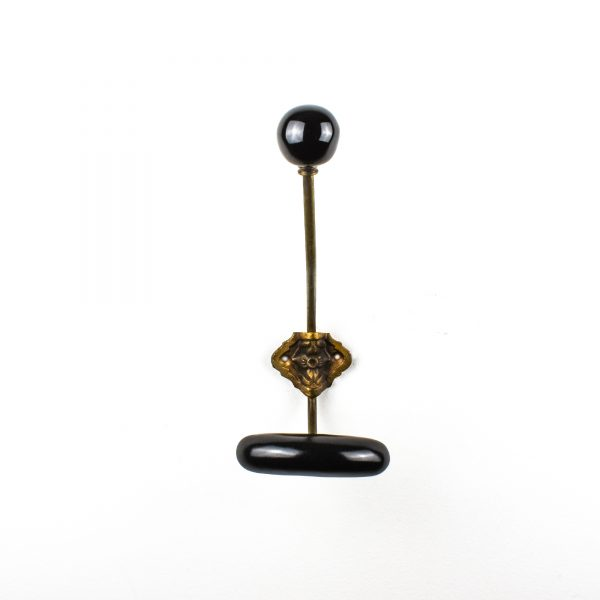 Black Traditional Hat and Coat Hook