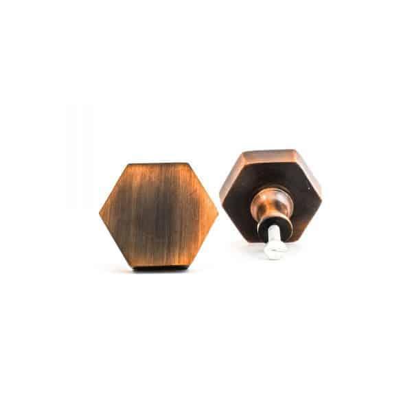 Copper Hexagon Knob