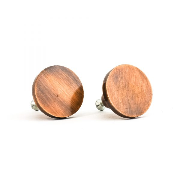 Copper Circle Iron Knob