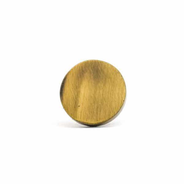 Antique Gold Circle Iron Knob