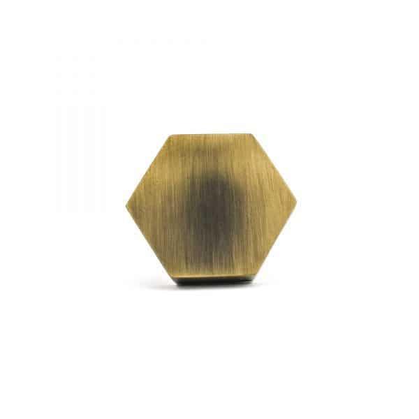 Antique Gold Hexagon Knob