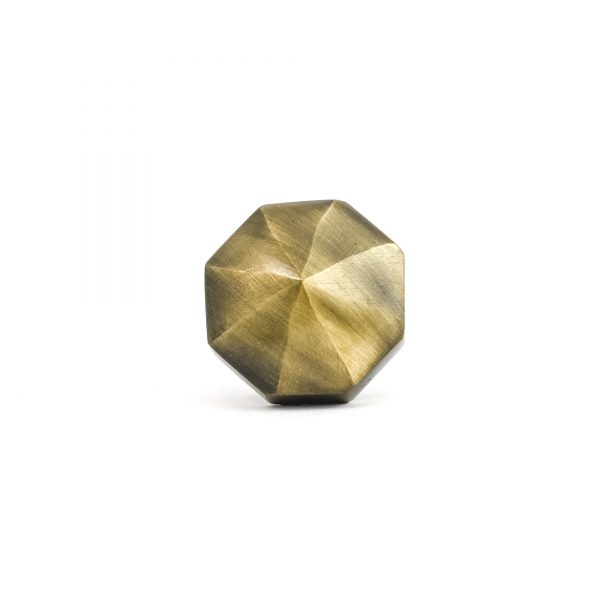 Antique Gold Octagon Prism Knob