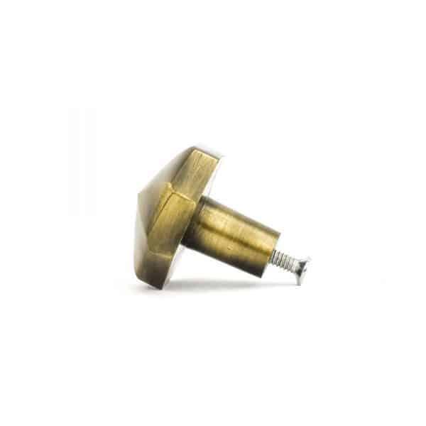 Antique Gold Octagon PrismKnob