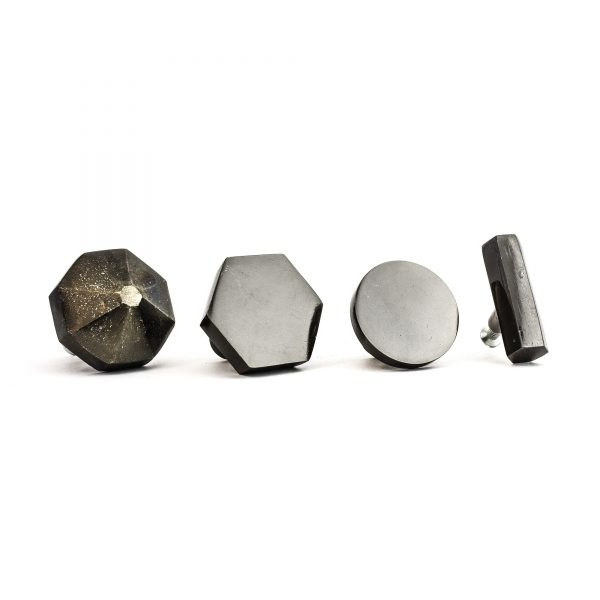 Charcoal Hexagon T-Bar Pull