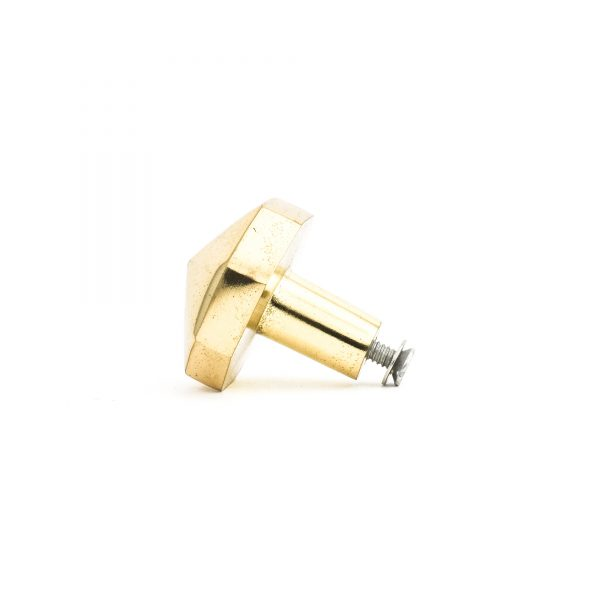 Polished Gold Octagon Prism Knob