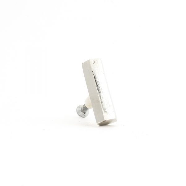 Silver Hexagon T-Bar Pull