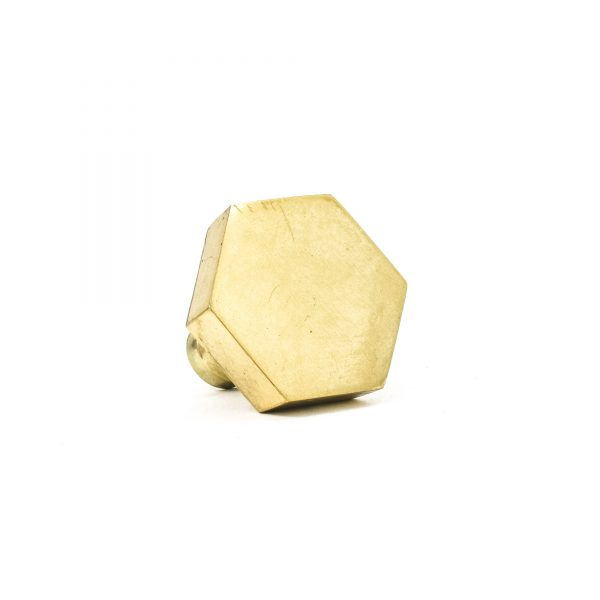 Polished Gold Hexagon Knob