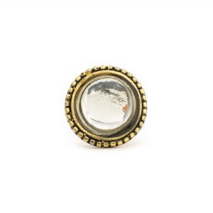 Glass and Gold Vintage Knob