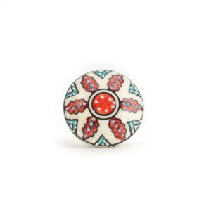 Red Spring Flower Knob