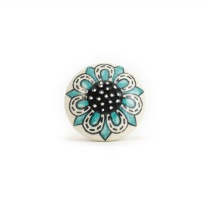 Light Blue Spring Flower Knob