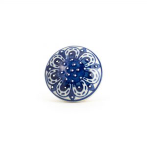 Navy Blue Spring Flower Knob