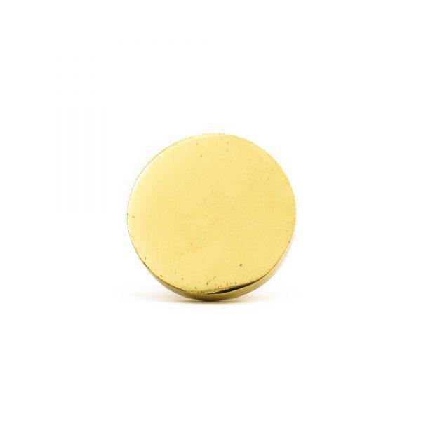 Polished Gold Circle Iron Knob