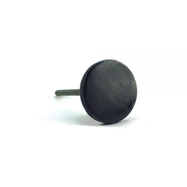 black iron circle knob 5 600x600 - Charcoal Circle Iron Knob