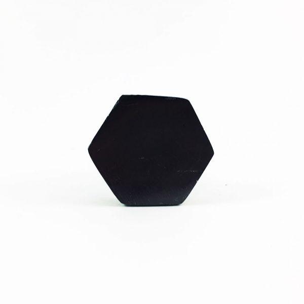 black iron hexagon knob 3 600x600 - Charcoal Hexagon Knob