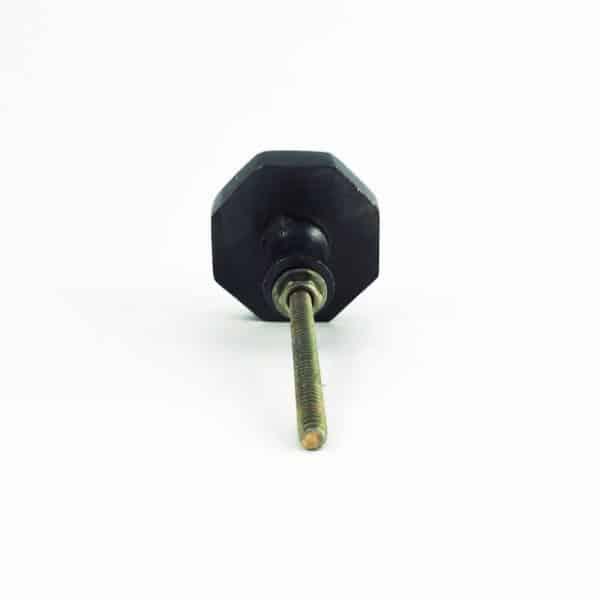 black iron prism octagon knob 10 600x600 - Charcoal Octagon PrismKnob