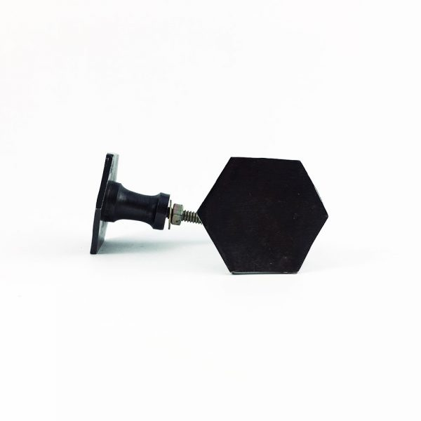 Charcoal Slimline Hexagon Knob