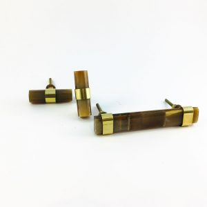 brown horn group handles 3 300x300 - Brown Horn and Brass Pull