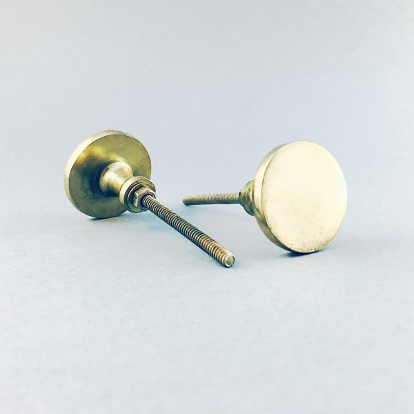 gold iron circle knob 1 600x600 - Polished Gold Circle Iron Knob