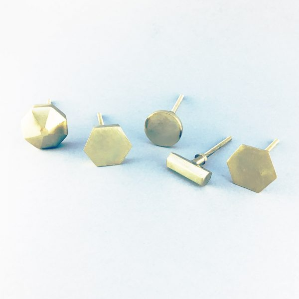 gold iron group 2 600x600 - Polished Gold Octagon Prism Knob