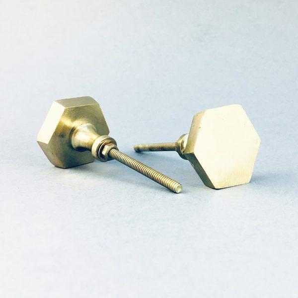 gold iron hexagon knob 1 600x600 - Polished Gold Hexagon Knob