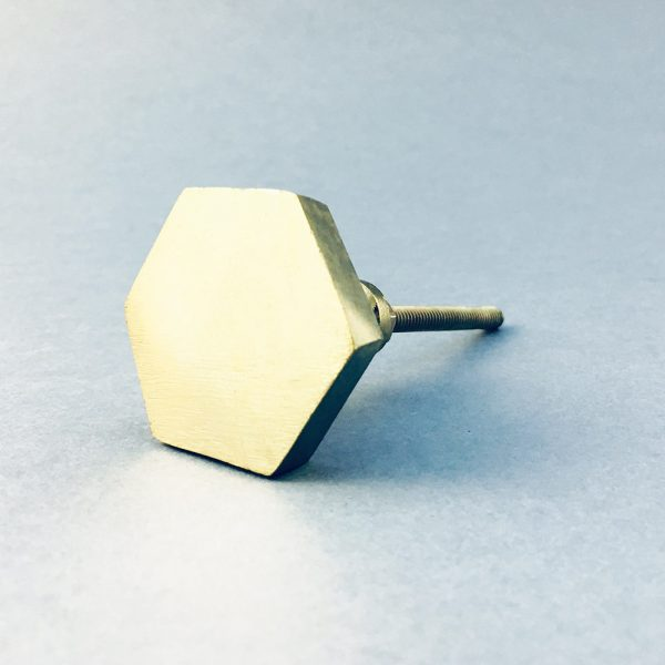 gold iron hexagon knob 11 600x600 - Polished Gold Hexagon Knob