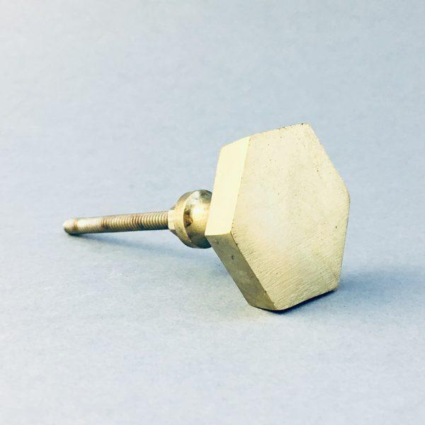 gold iron hexagon knob 5 600x600 - Polished Gold Hexagon Knob