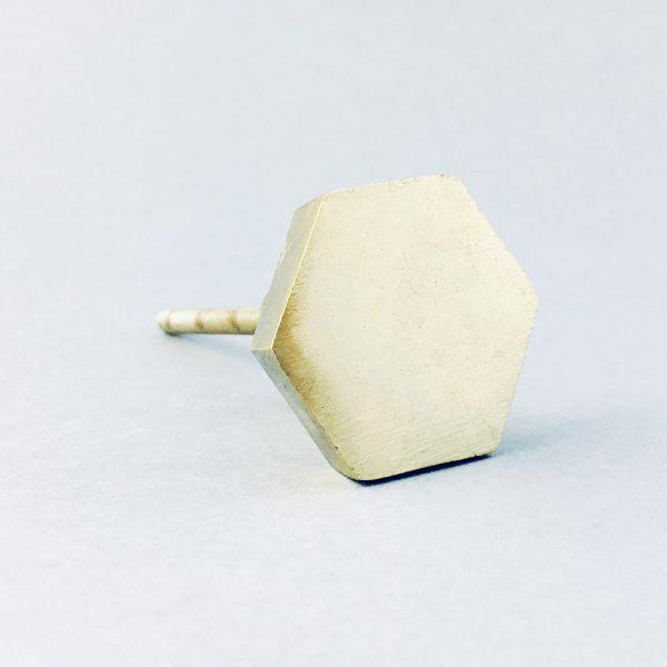 gold iron hexagon knob 600x600 - Polished Gold Hexagon Knob