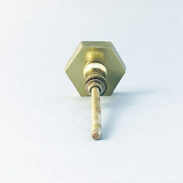gold iron hexagon knob 8 600x600 - Polished Gold Hexagon Knob