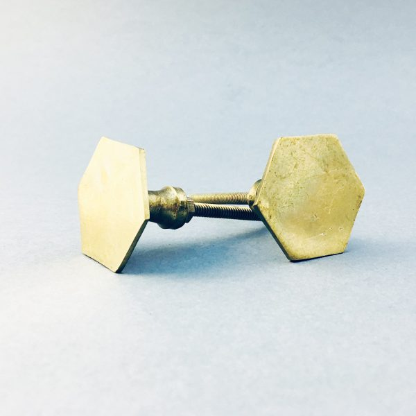 Polished Gold Hexagon T-Bar Pull