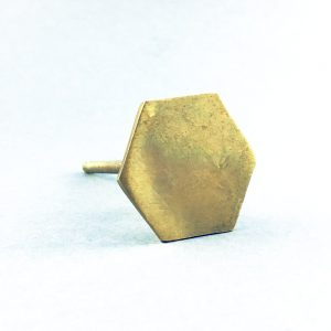 gold iron hexagon slimline knob 4 300x300 - Polished Gold Slimline Hexagon Knob