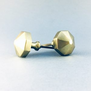 gold iron octagon prism knob 2 300x300 - Polished Gold Octagon Prism Knob