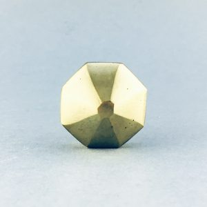 gold iron octagon prism knob 3 300x300 - Polished Gold Octagon Prism Knob