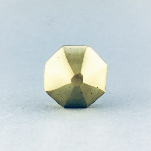 gold iron octagon prism knob 3 600x600 - Polished Gold Octagon Prism Knob