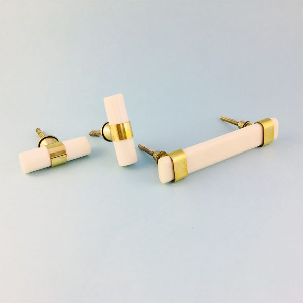 group resin and brass handles 1 600x600 - Creamy White Resin and Brass Handle