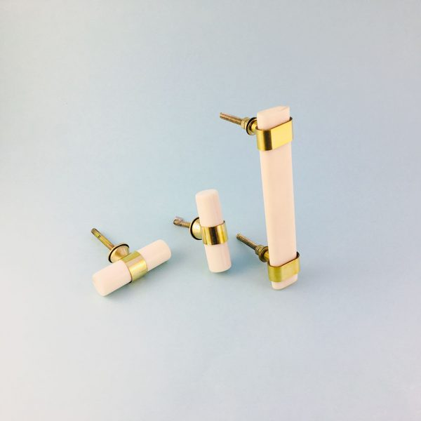 group resin and brass handles 5 600x600 - Creamy White Resin and Brass Handle
